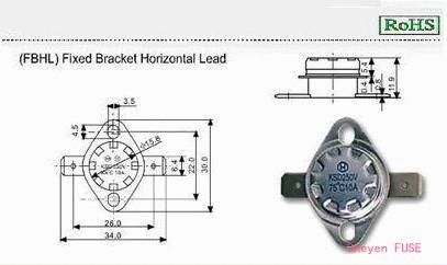温度保险器 KSD-F01FBHL