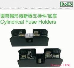 圆筒帽形熔断器支持件/底座 HC101C