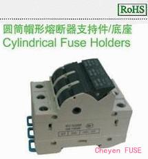 圆筒帽形熔断器支持件/底座HC103D